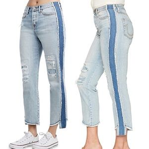 NWT True Religion High Rise Starr Crop Jeans 25